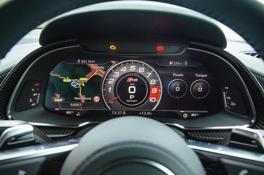 The Audi R8 digital instrument