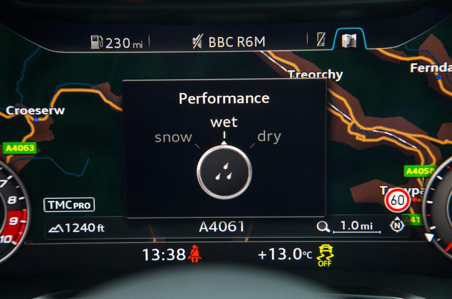 The Audi's satellite navigation