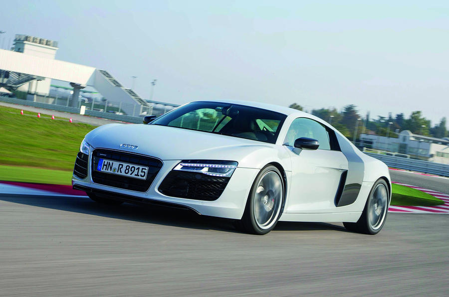 The facelifted Audi R8