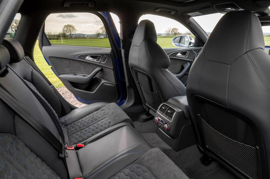Audi RS6 rear seats