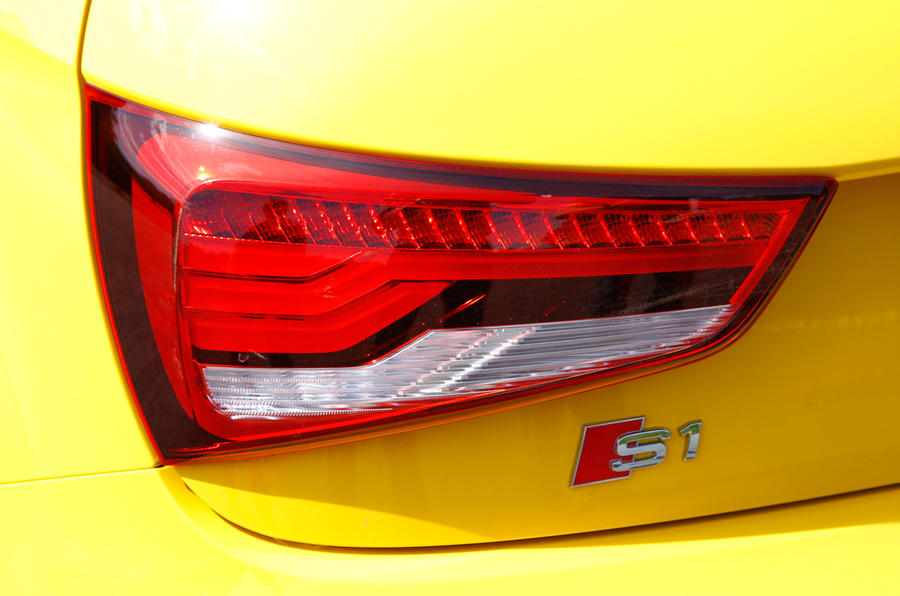 Rear lights on the Audi S1