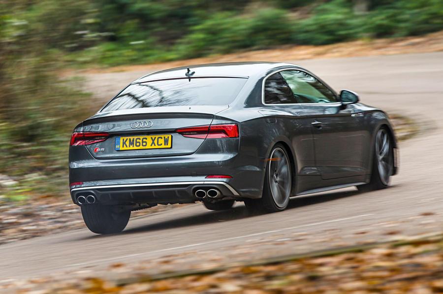 Audi S5 rear cornering