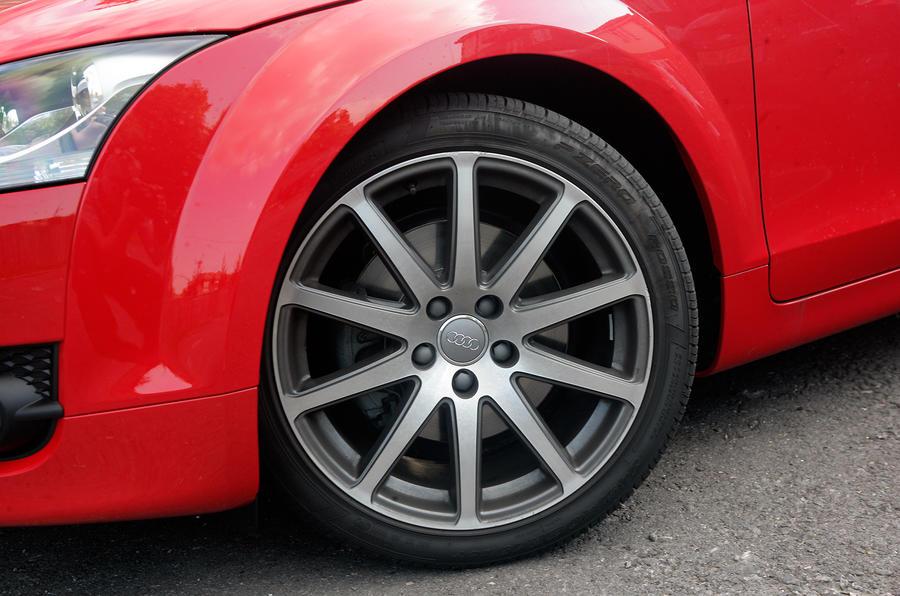 Audi TT's alloy wheels