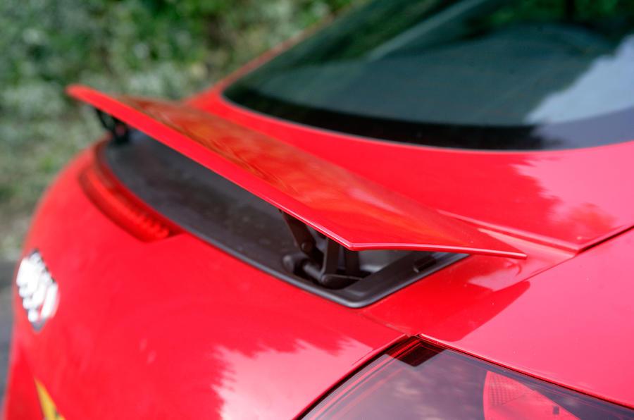 Audi TT's rear spoiler