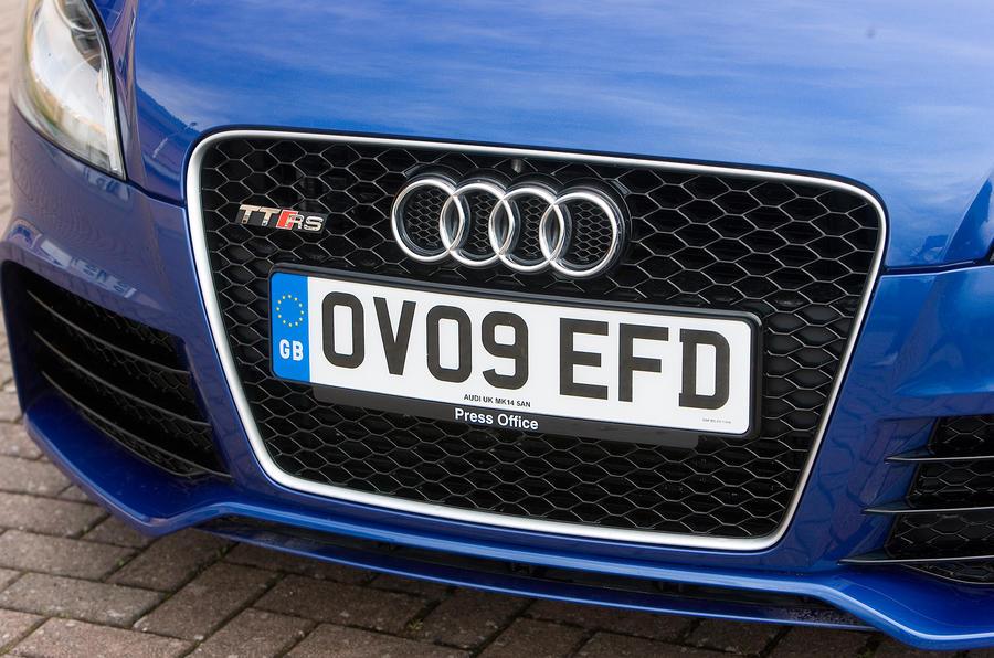 Audi TT RS's front grille