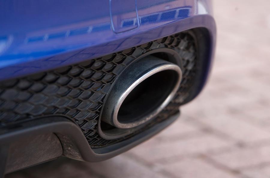 Audi TT RS's exhaust