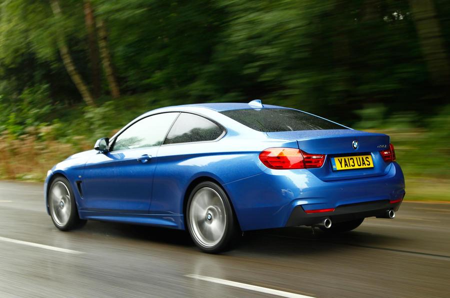 BMW 4 Series coupé rear quarter