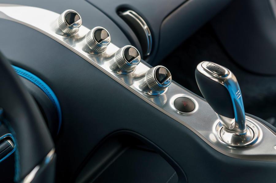 Bugatti Chiron centre console