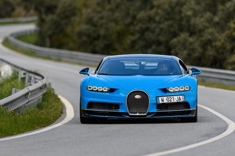Bugatti Chiron cornering