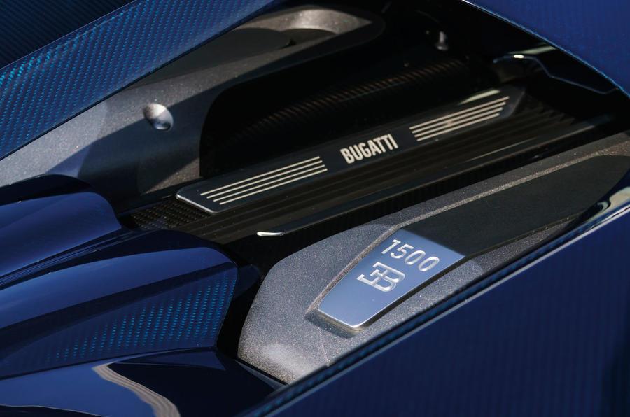 Bugatti Chiron open engine bay