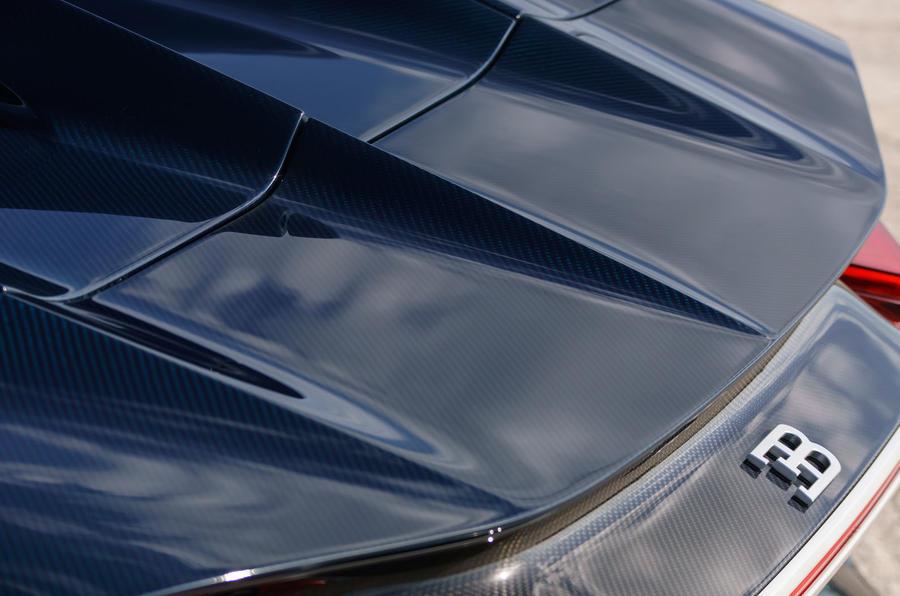Bugatti Chiron rear spoiler