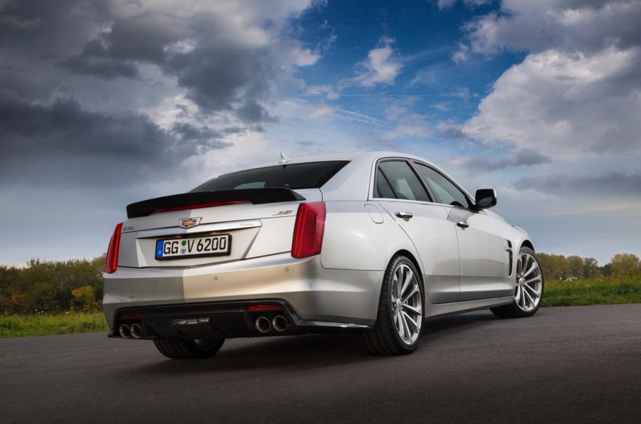 Cadillac CTS-V rear cornering