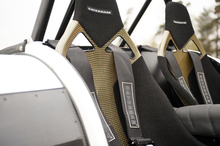 Caterham Seven Superlight's racing harness