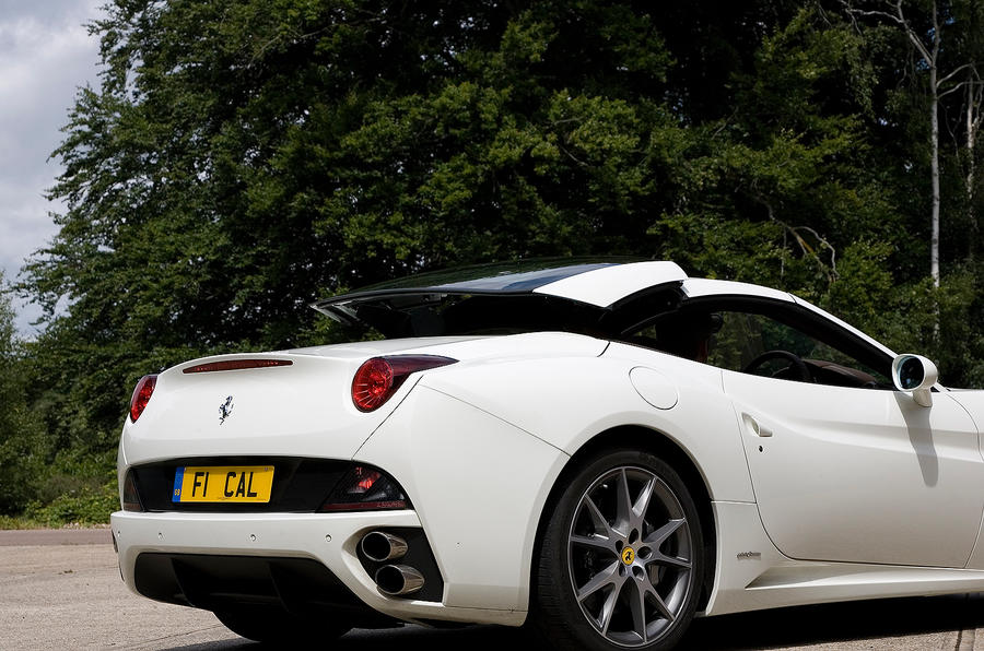 Ferrari California roof up
