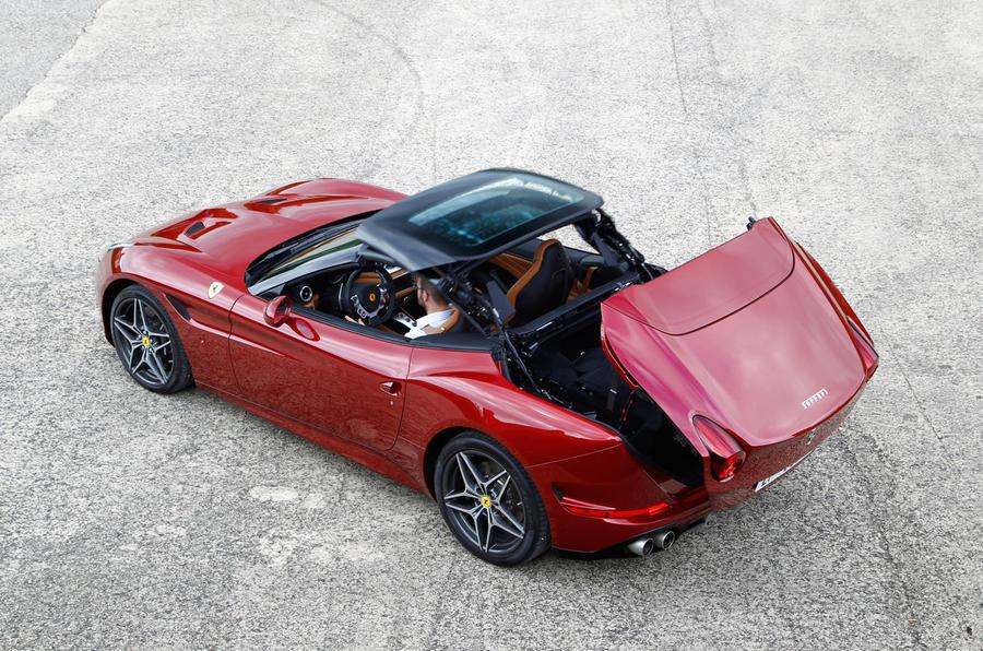 Ferrari California roof folding down