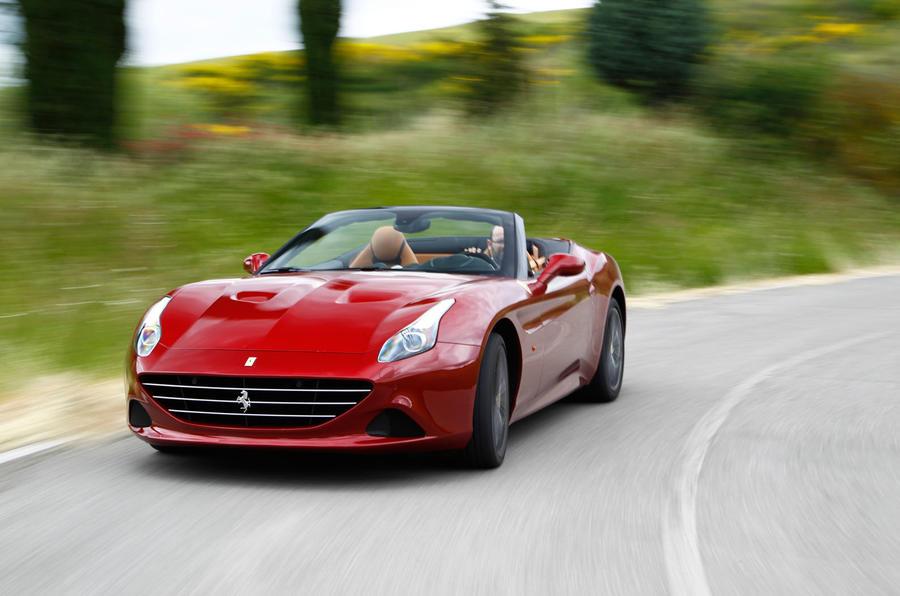 Ferrari California T hard cornering