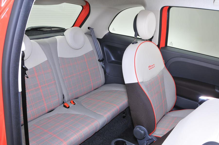 Fiat 500 rear seats