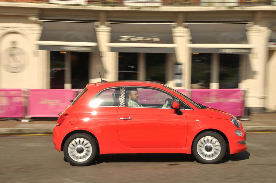 Fiat 500 side profile