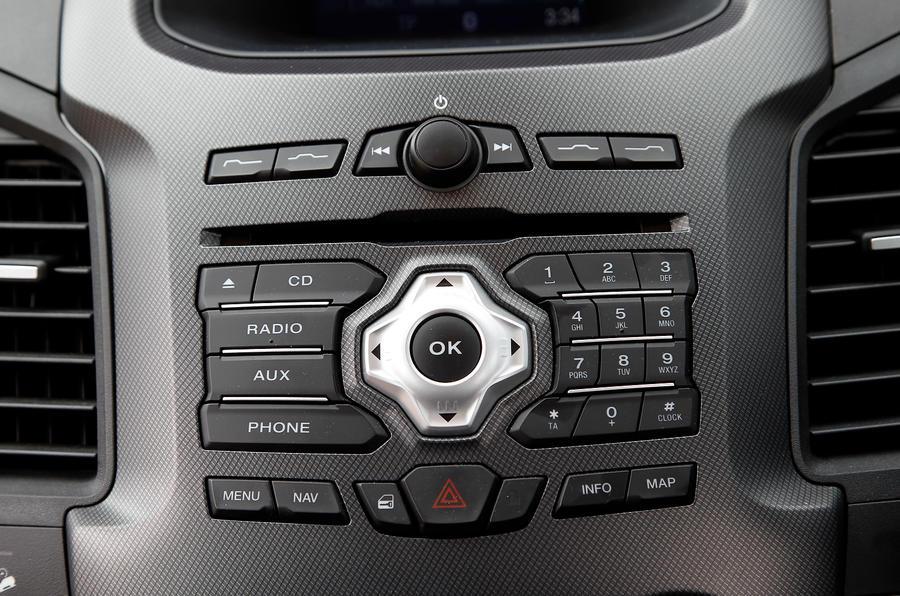 Ford Ranger infotainment controls