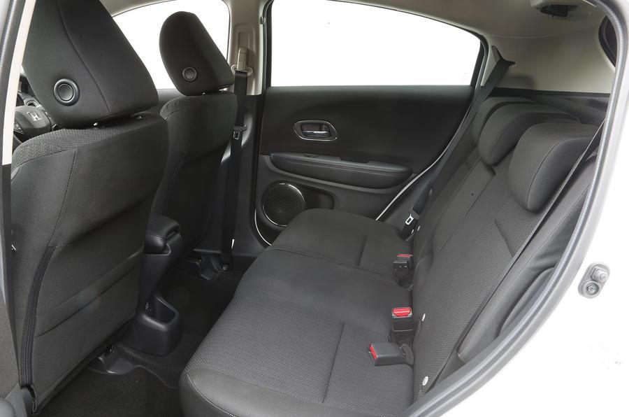 A look at the Honda HR-V's rear cabin