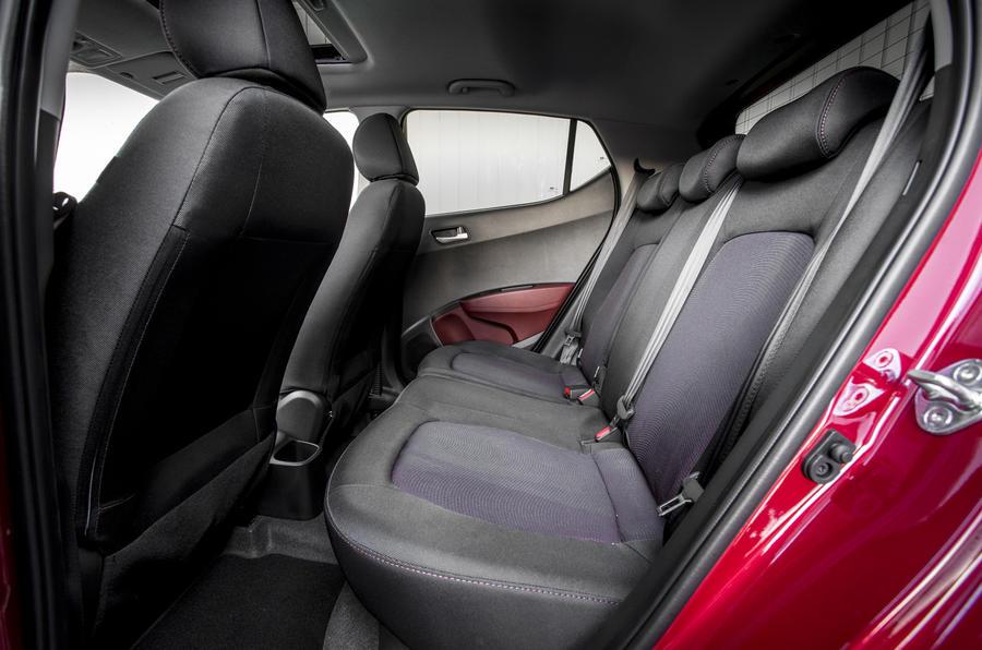 Hyundai i10 rear seats