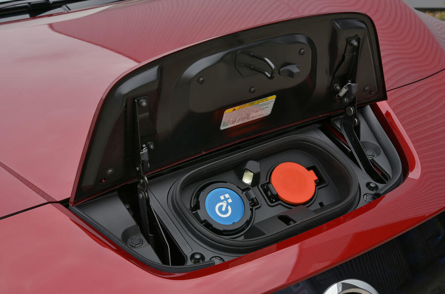 Nissan Leaf 62kWh 2019 UK first drive review - charging port