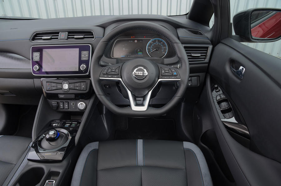 Nissan Leaf 62kWh 2019 UK first drive review - dashboard
