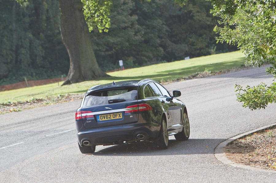 Jaguar XF Sportbrake rear cornering