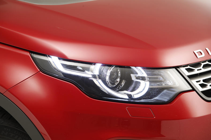 The Land Rover Discovery Sport's wraparound lights are the latest interpretation of the model's design