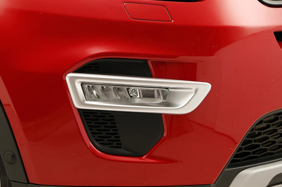 The entry-level Land Rover Discovery Sport doesn't come with LED fog lights