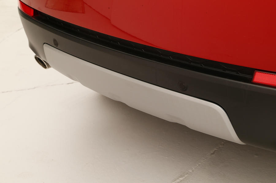 The Land Rover Discovery Sport's rugged skid plate
