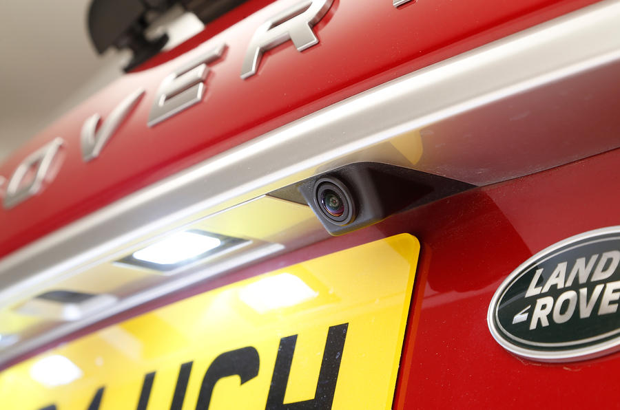 The reversing camera is standard on HSE Land Rover Discovery Sport and higher