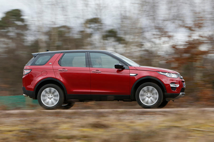 The Land Rover Discovery Sport can be driven briskly