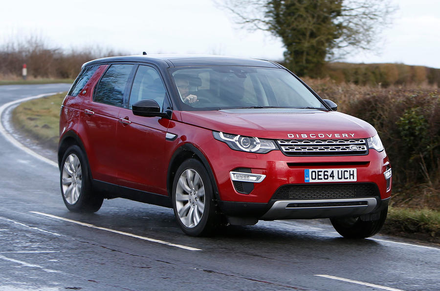 The Land Rover Discovery Sport rides well on open roads...