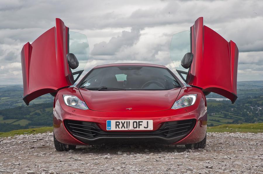 McLaren 12C dihedral doors