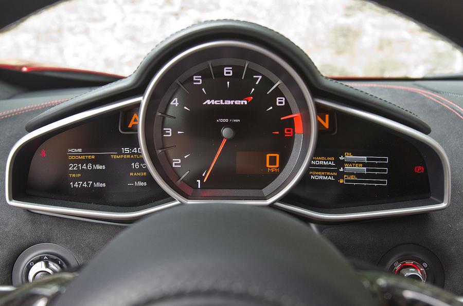 McLaren 12C instrument cluster