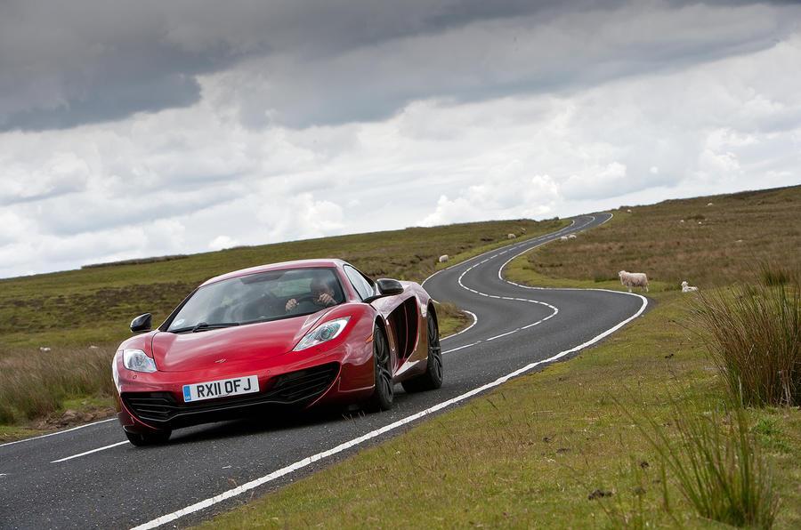McLaren 12C cornering