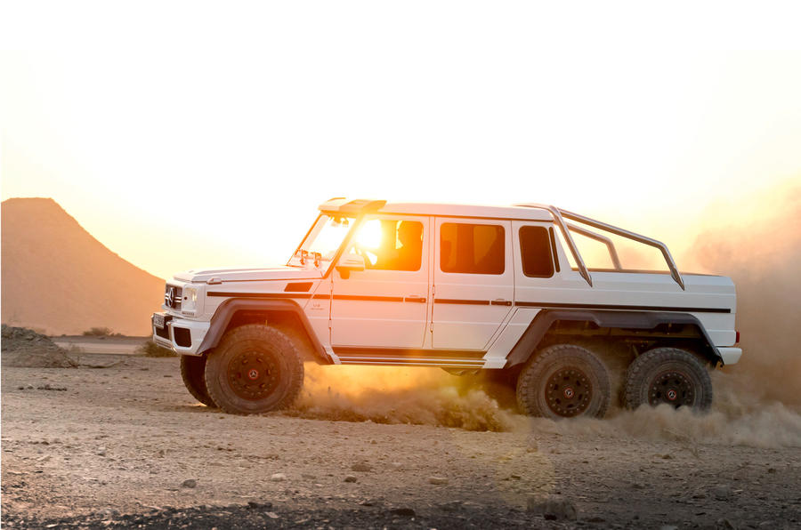 The Mercedes-AMG G 63 6x6 is six-wheel drive and low range gearing