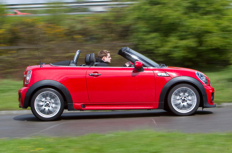 Mini Roadster roof down