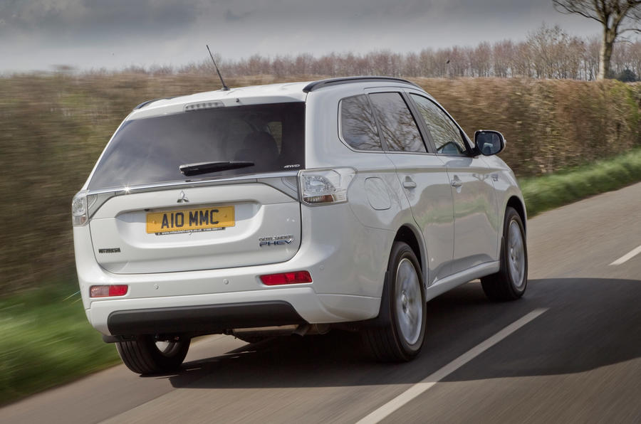Mitsubishi Outlander PHEV rear quarter