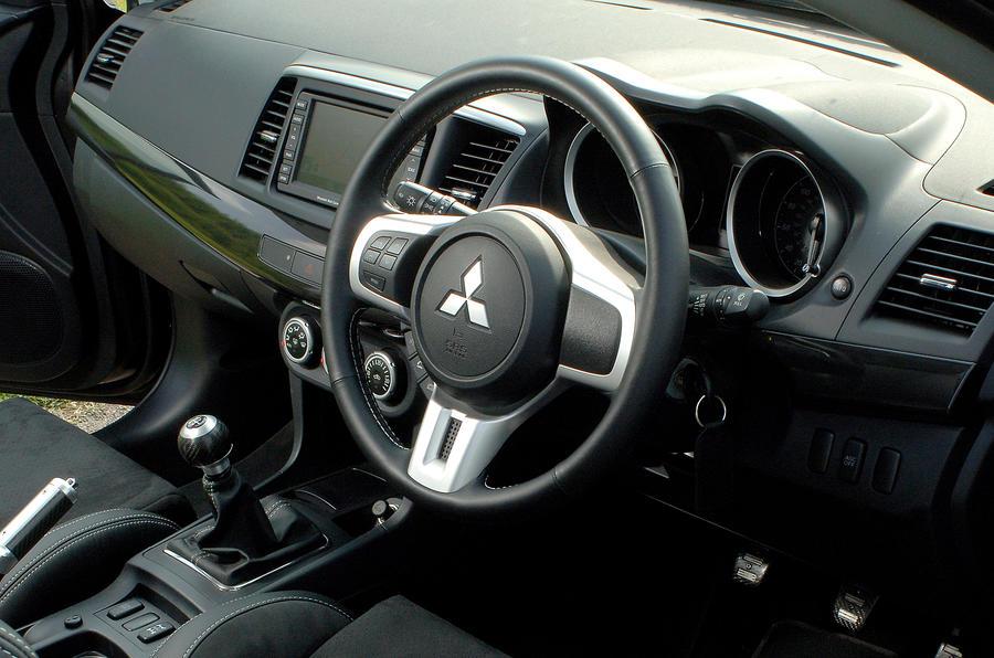 Mitsubishi Evo X dashboard