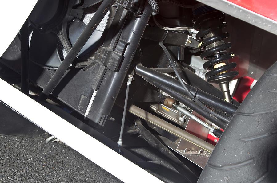 iMiEV Evolution suspension set-up
