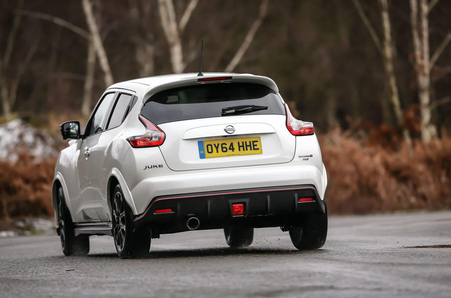 Firmer suspension fails to control the Nissan Juke Nismo RS's high-level mass