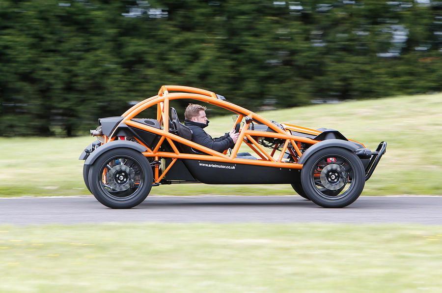 Ariel Nomad has a composed ride