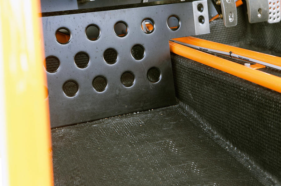 The footwell in the Ariel Nomad