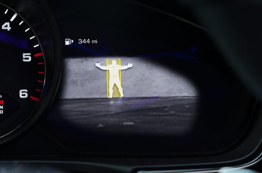 Porsche Panamera infrared detection system