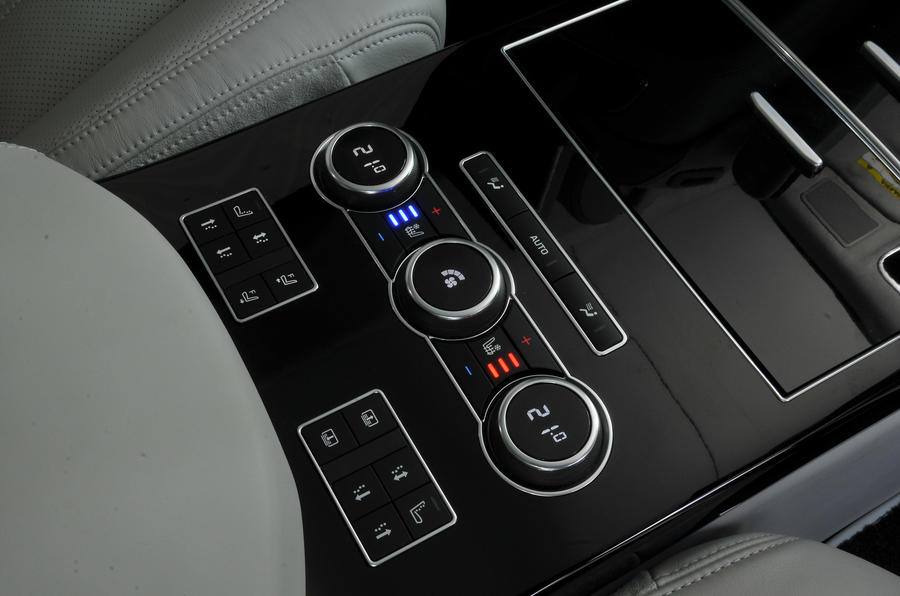 Range Rover climate controls