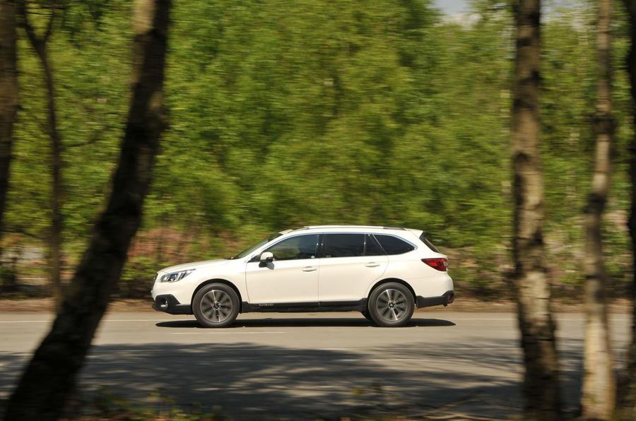 Subaru Outback on the road