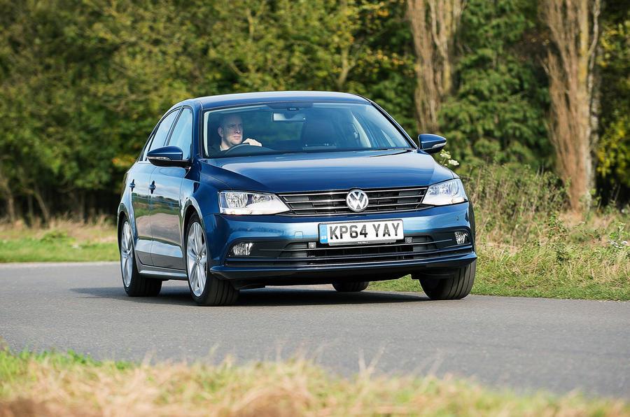 Volkswagen Jetta cornering
