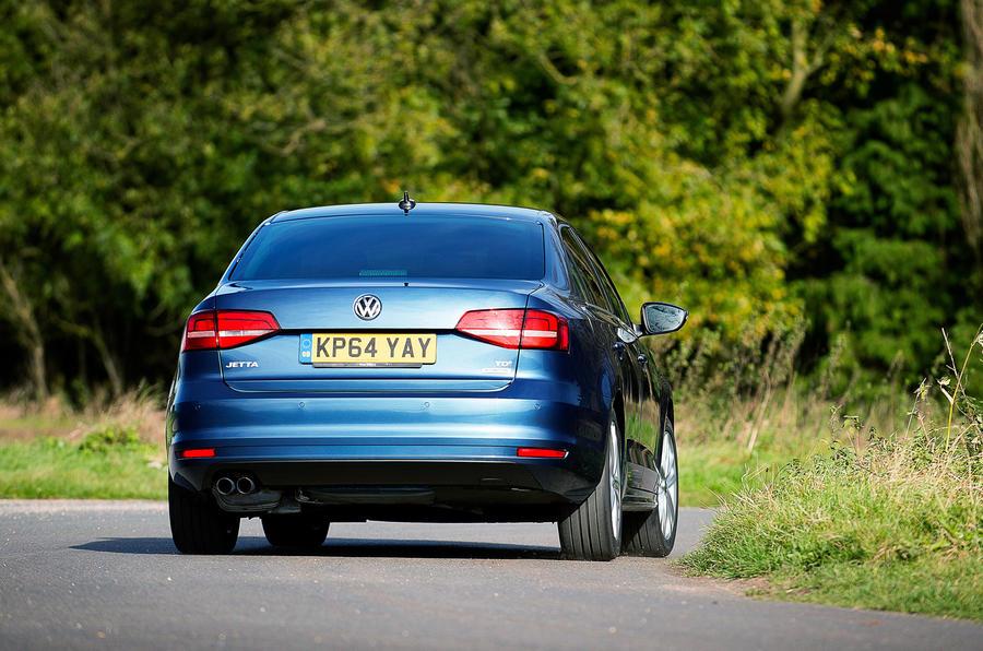 Volkswagen Jetta rear cornering